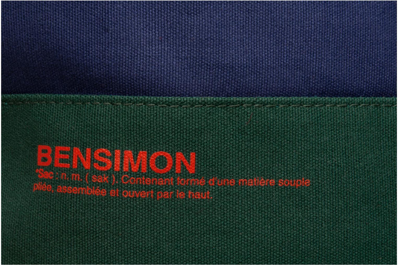 Sacs à main Bensimon Surplus Cabas bicolore Bleu vue gauche