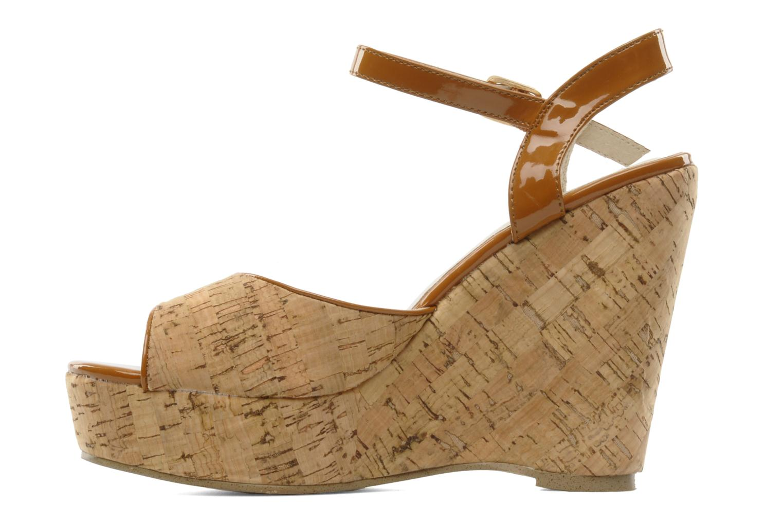 Sandales et nu-pieds Georgia Rose Flica Marron vue face