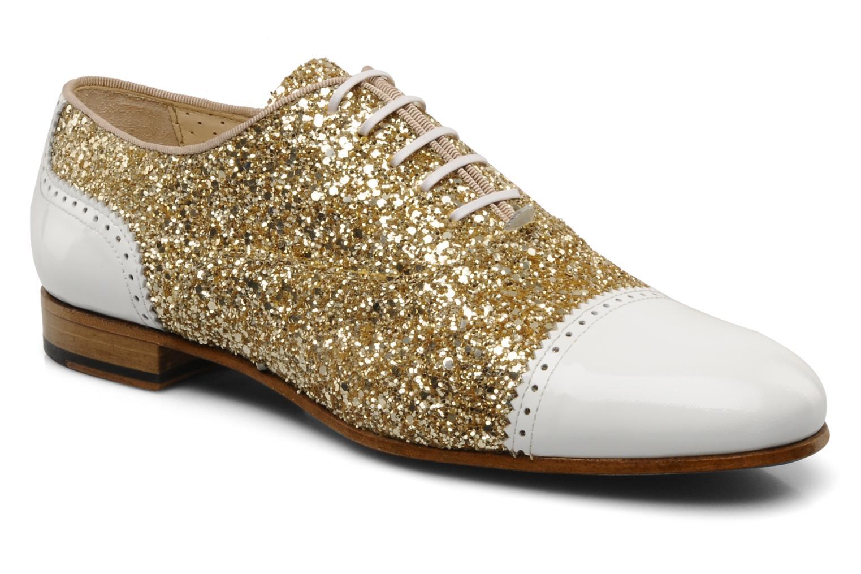 Chaussures à lacets Georgia Rose Pantika Or et bronze vue détail/paire