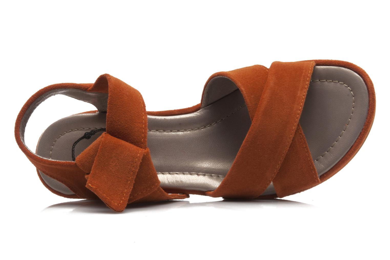 Sandali e scarpe aperte Addict-Initial Ariana Arancione immagine sinistra