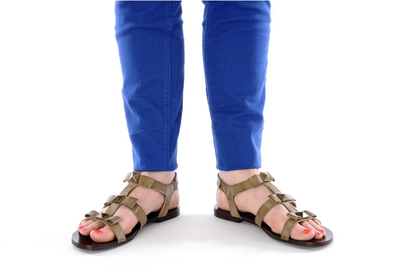 Sandales et nu-pieds Addict-Initial Adene Beige vue bas / vue portée sac
