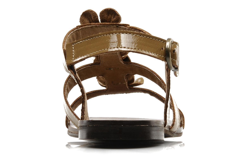 Sandalen Addict-Initial Agustina braun ansicht von rechts