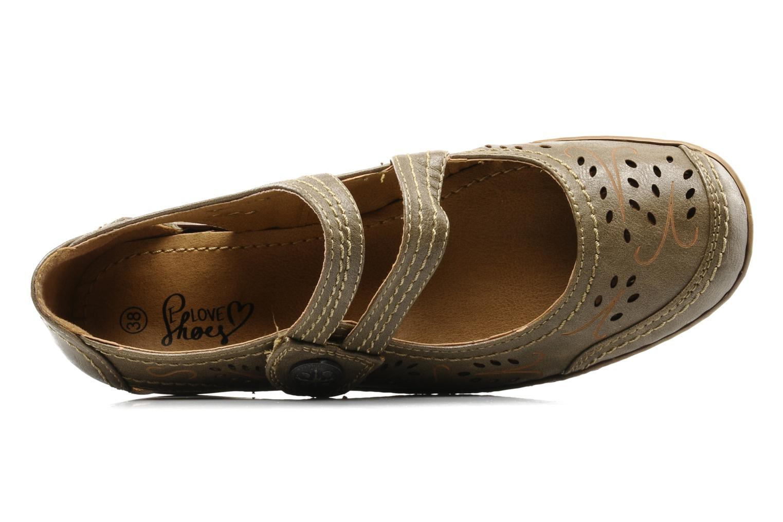 Ballerina's I Love Shoes Similio Groen links