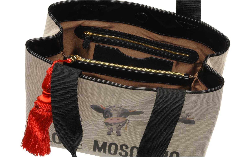 Handbags Love Moschino MOOOU BAG CABAS Beige back view