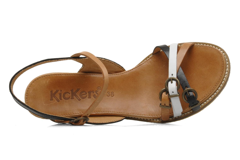 Sandales et nu-pieds Kickers SPRING 2 Noir vue gauche