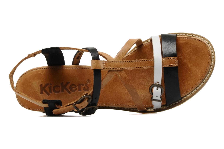 Sandales et nu-pieds Kickers SUBMARINE Noir vue gauche