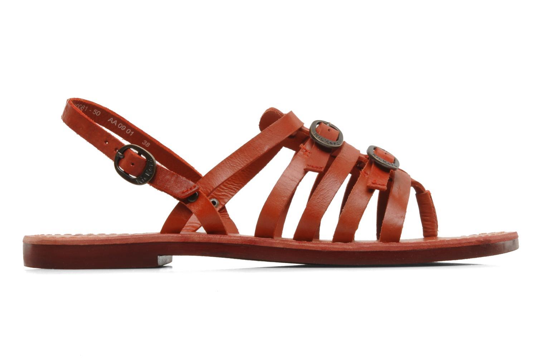 Sandales et nu-pieds Kickers Dixmille Rouge vue derrière