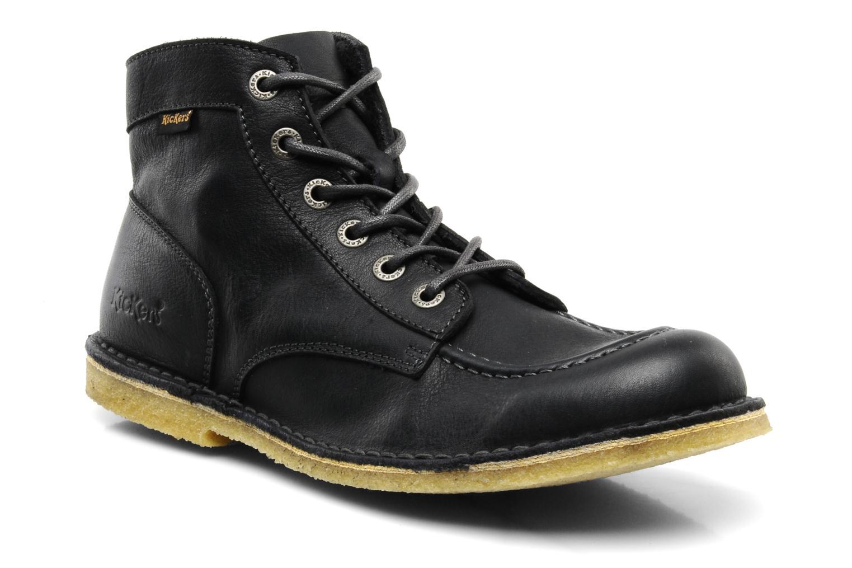 Boots cuir Kick Legend, Noir Métal