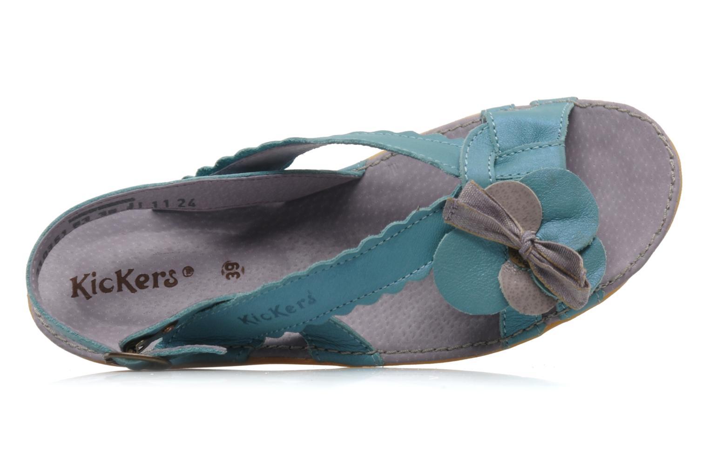 Sandalen Kickers EXTRAFIN Blauw links
