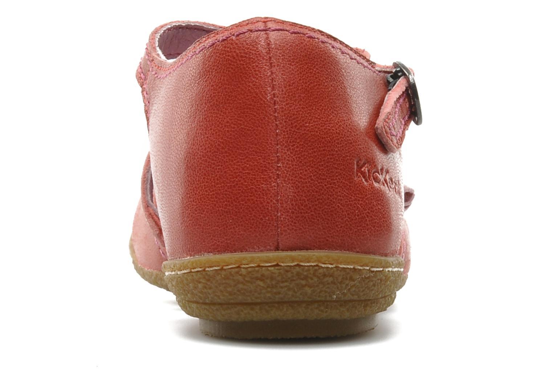 Sandalias Kickers CYCLINE 2 Rojo vista lateral derecha