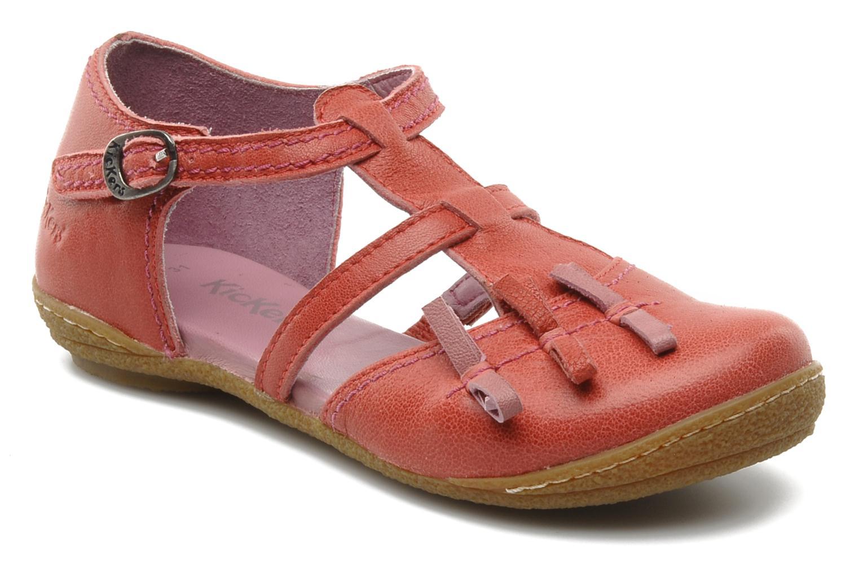 Sandales et nu-pieds Kickers CYCLINE 2 Rouge vue détail/paire