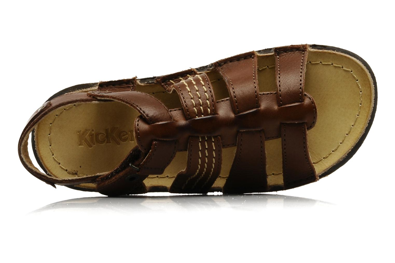 Sandales et nu-pieds Kickers PEPITO V Marron vue gauche