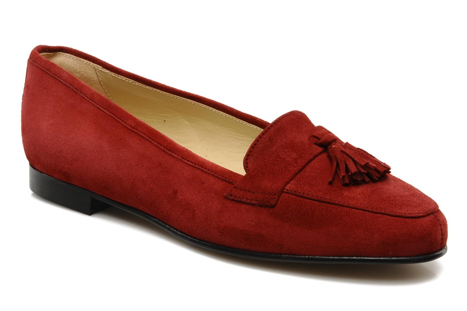 Loafers Georgia Rose Voxe Burgundy detailed view/ Pair view