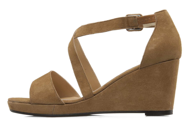 Sandales et nu-pieds Valensi Vira Beige vue face