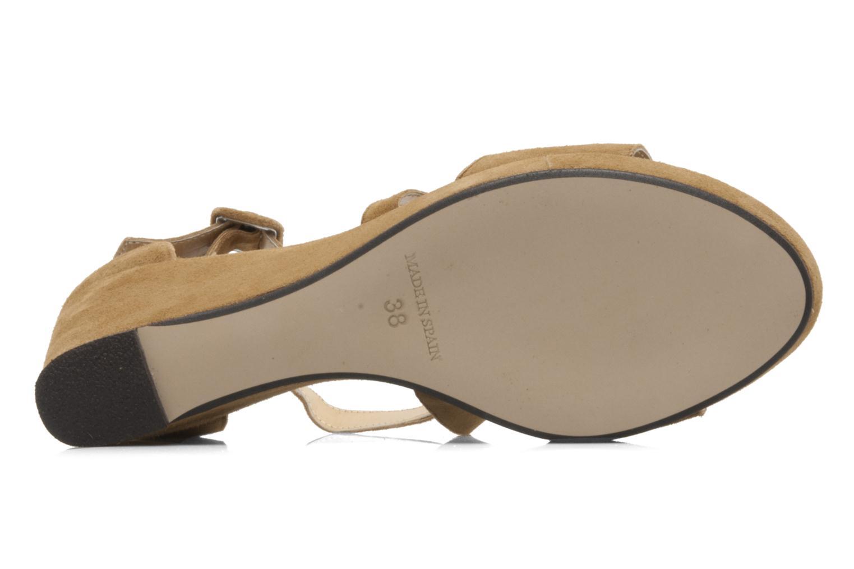 Sandales et nu-pieds Valensi Vira Beige vue haut