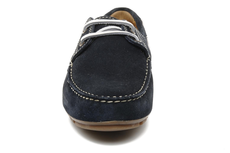 Chaussures à lacets Geox U lux B Bleu vue portées chaussures