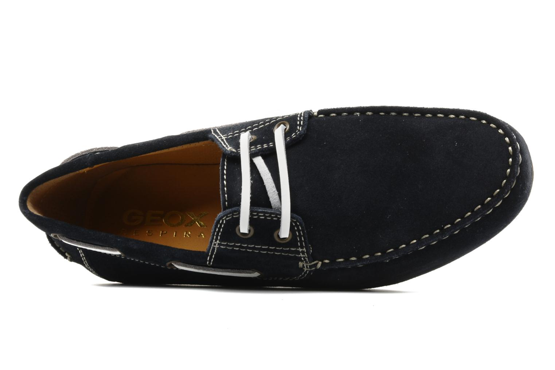 Chaussures à lacets Geox U lux B Bleu vue gauche