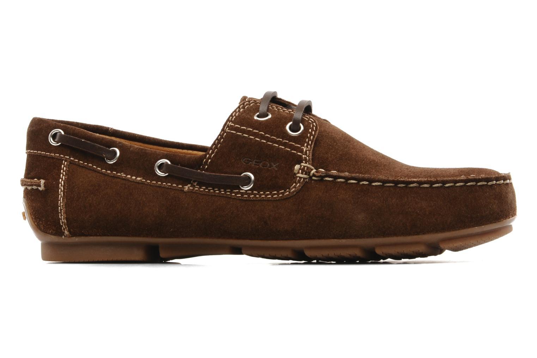 Chaussures à lacets Geox U lux B Marron vue derrière
