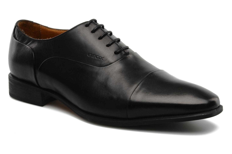 Chaussures à lacets Geox U hight life Q Noir vue détail/paire