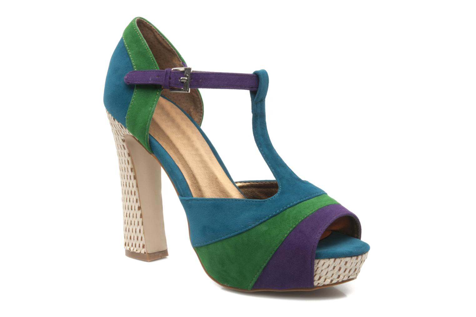 High heels I Love Shoes Kirsty Blue detailed view/ Pair view