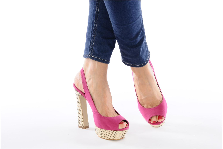 Sandalen I Love Shoes Leia rosa ansicht von unten / tasche getragen