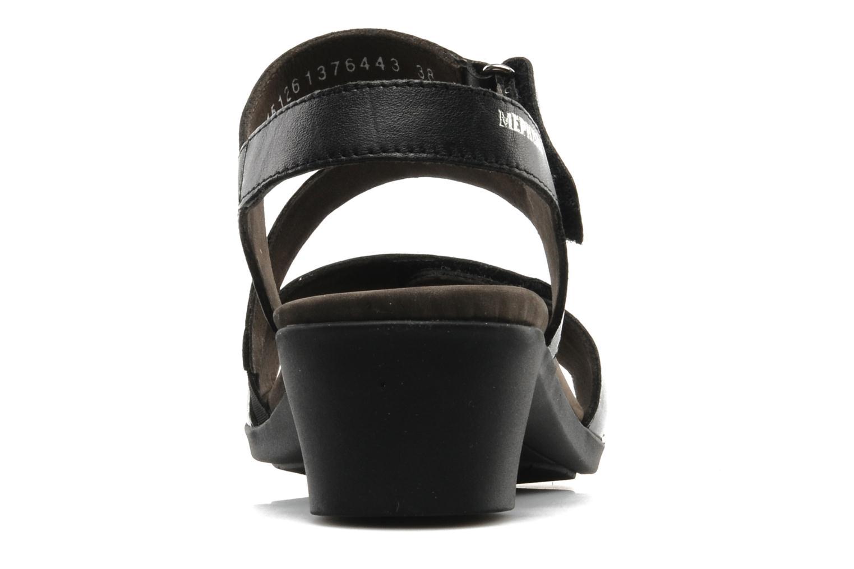 Sandales et nu-pieds Mephisto Pricila Noir vue droite
