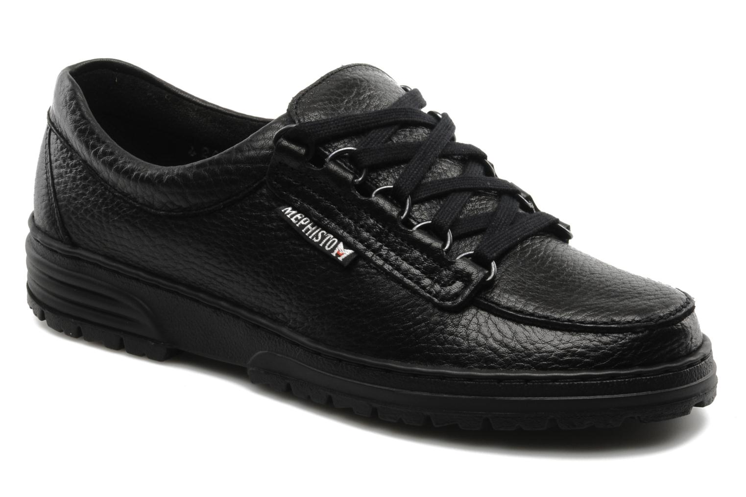 Lace-up shoes Mephisto Wanda Black detailed view/ Pair view
