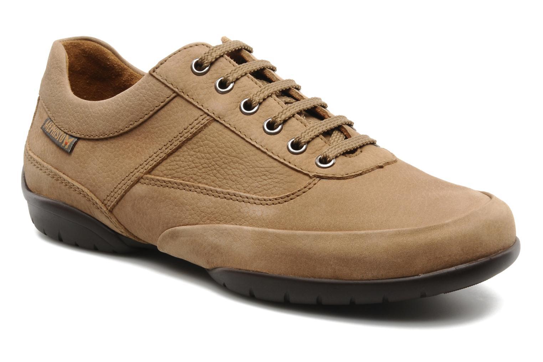 Snøresko Mephisto Balek Beige detaljeret billede af skoene