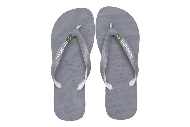 Flip flops Havaianas Brasil Mix H Grey 3/4 view