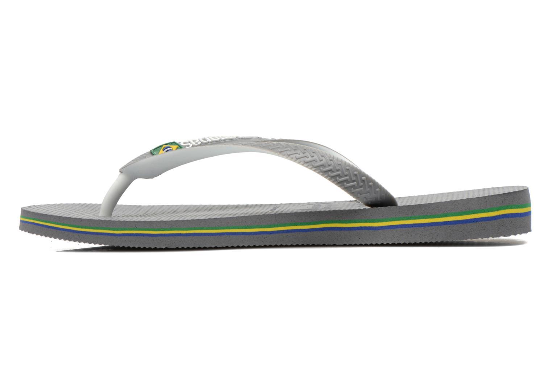 Flip flops Havaianas Brasil Mix H Grey front view