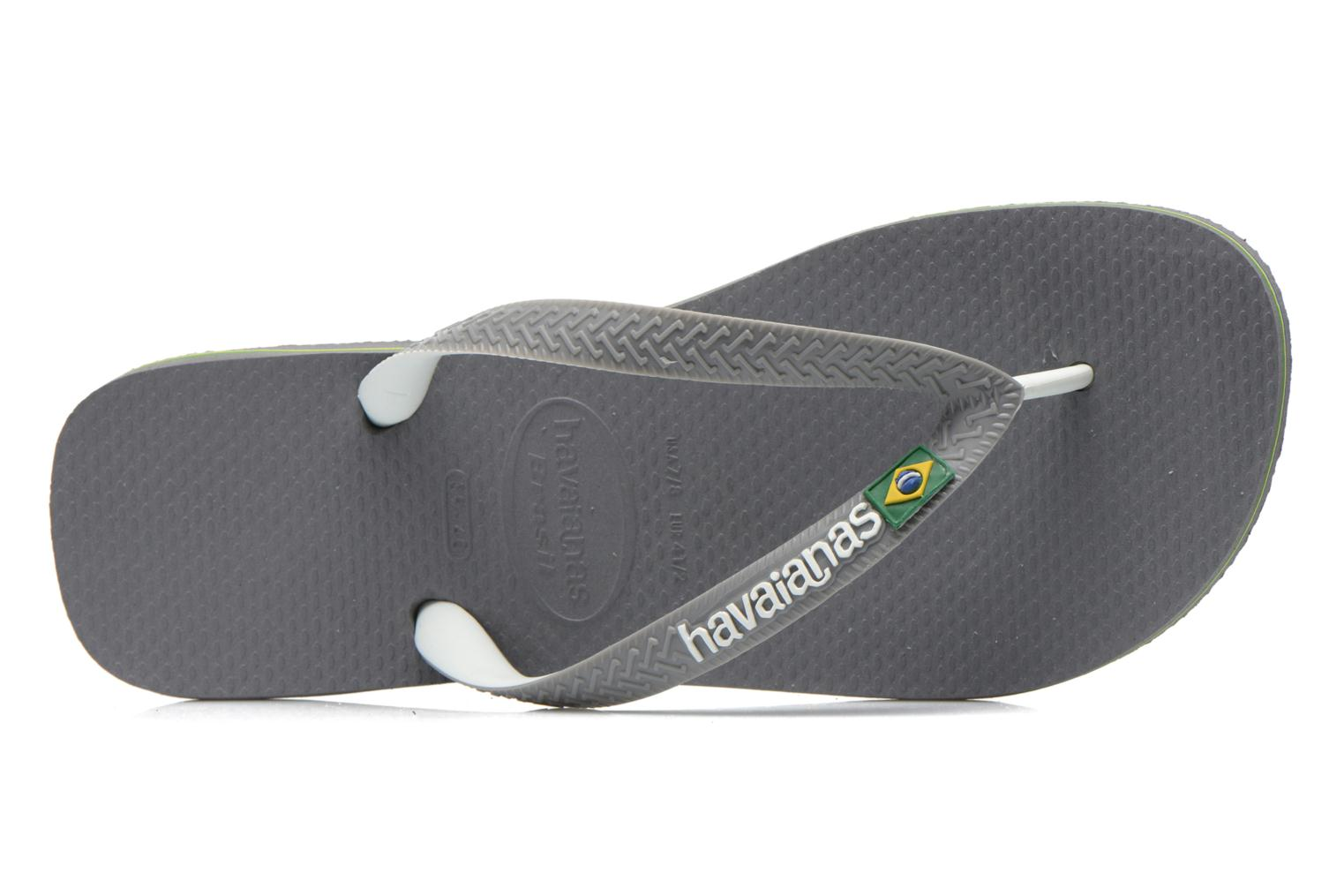 Flip flops Havaianas Brasil Mix H Grey view from the left