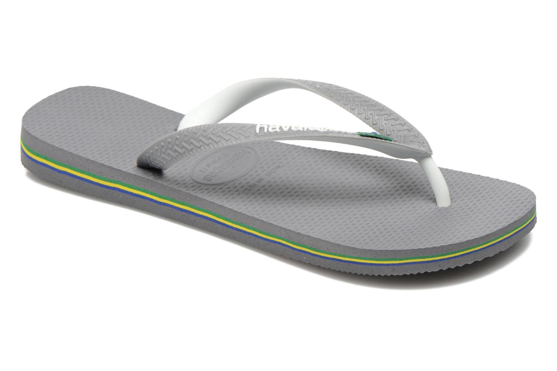 Flip flops Havaianas Brasil Mix H Grey detailed view/ Pair view