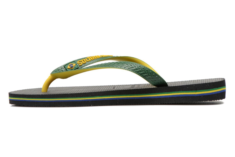 Flip flops Havaianas Brasil Mix H Green front view