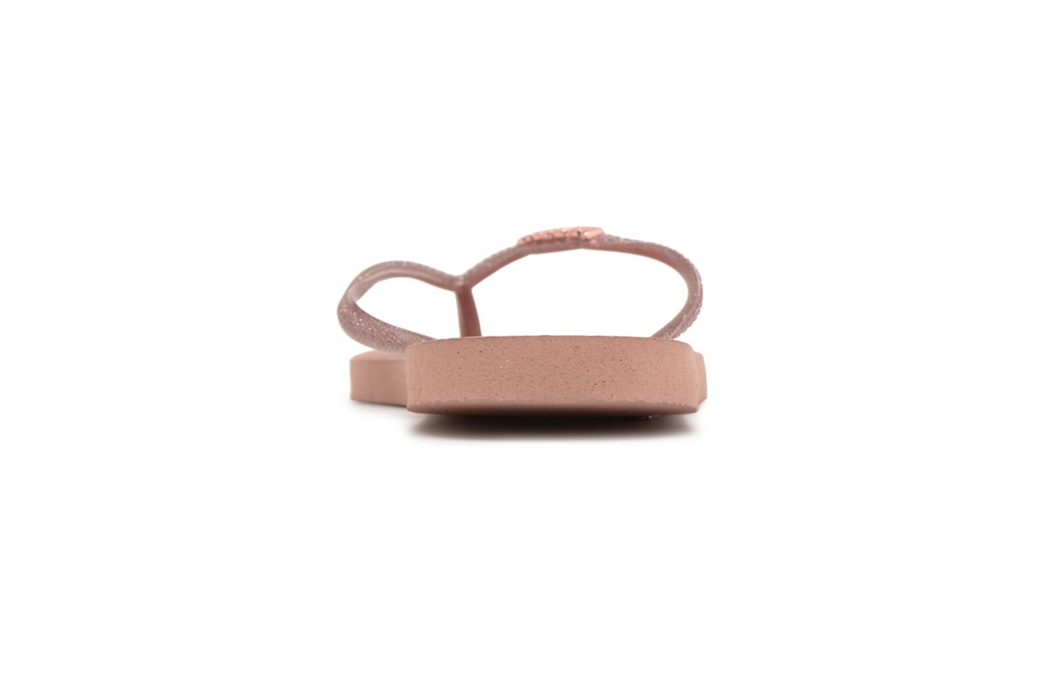 Flip flops Havaianas Slim Logo Metallic Pink view from the right