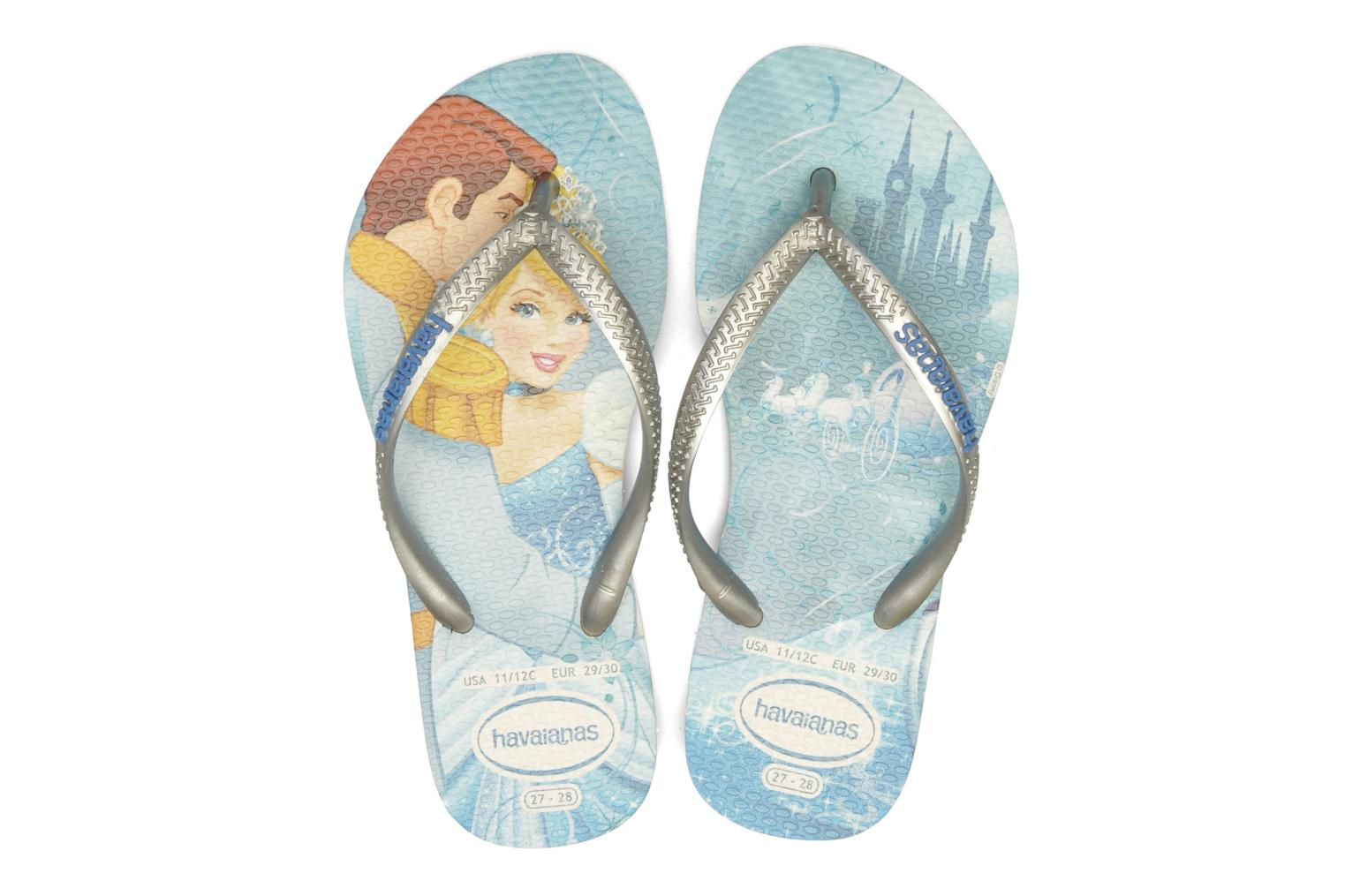 Tongs Havaianas Kids Slim Princess Bleu vue 3/4