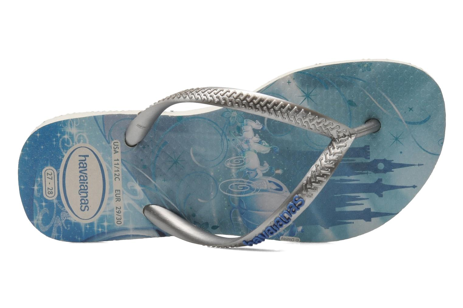 Tongs Havaianas Kids Slim Princess Bleu vue gauche