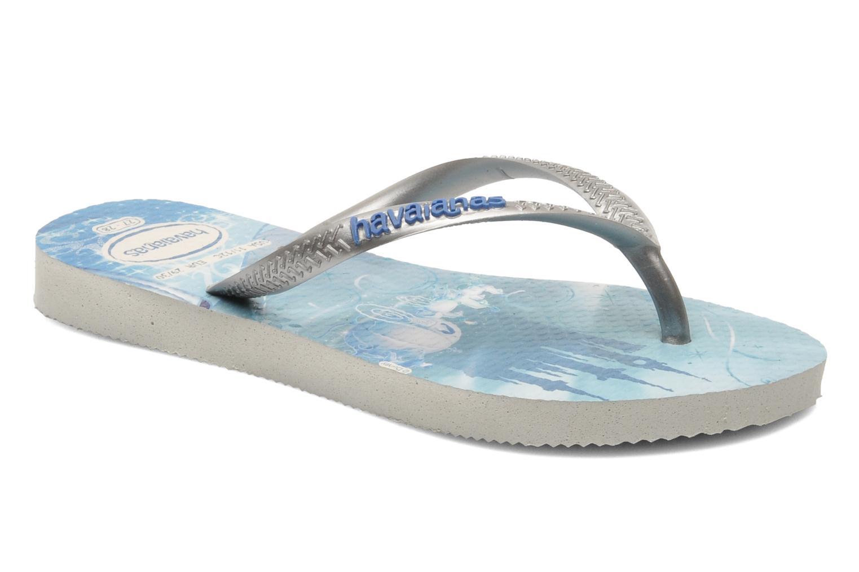 Flip flops Havaianas Kids Slim Princess Blue detailed view/ Pair view