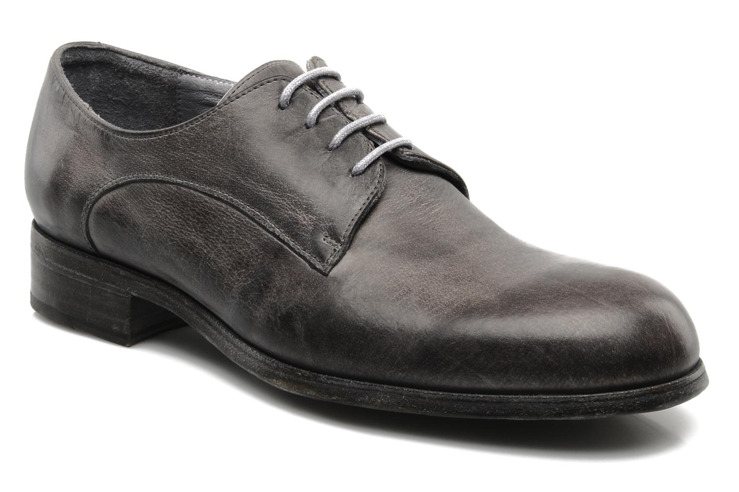 Lace-up shoes Free Lance Azev 4 derby Grey detailed view/ Pair view