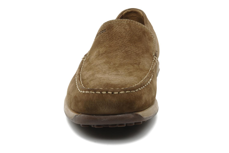 Mocassins Geox U GIANNI R Marron vue portées chaussures