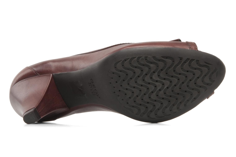 Zapatos de tacón Geox D Francia Z Marrón vista de arriba