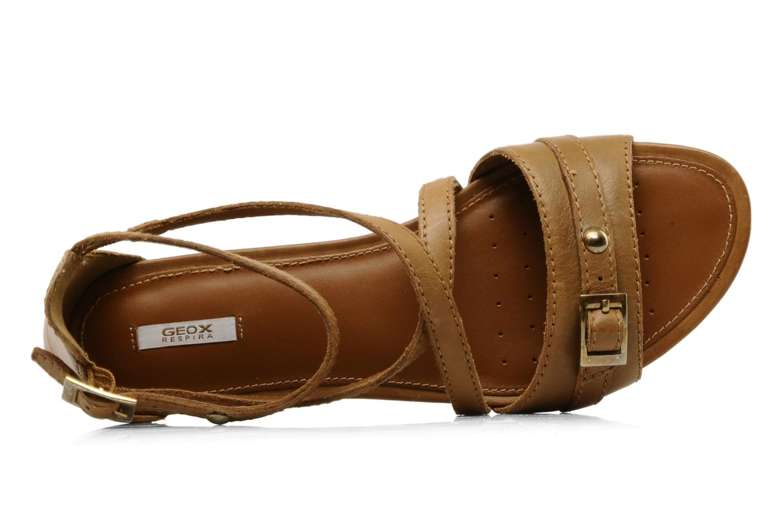 Sandals Geox D felisa d Brown view from the left
