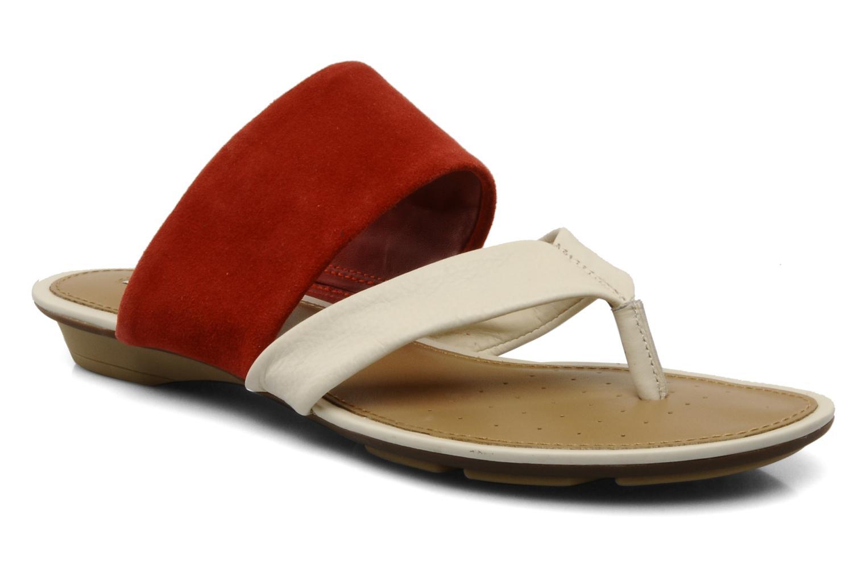 Flip flops Geox D felisa r Red detailed view/ Pair view