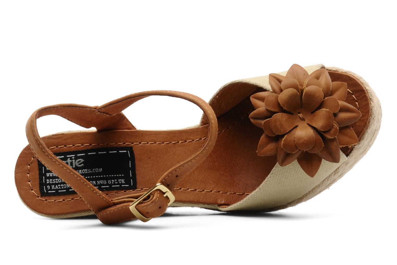 Sandales et nu-pieds Bertie Giotto Beige vue gauche