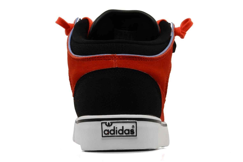 Baskets Adidas Originals Culver Vulc Mid Rouge vue droite