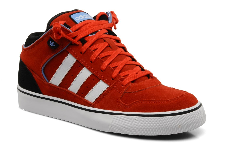 Baskets Adidas Originals Culver Vulc Mid Rouge vue détail/paire