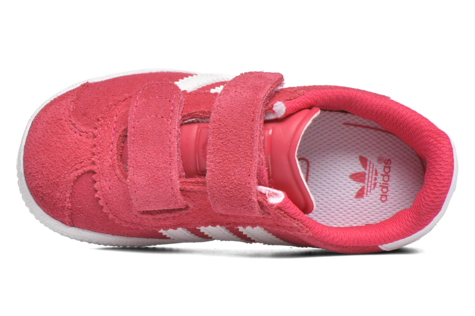 Trainers Adidas Originals Gazelle 2 CF I Pink view from the left