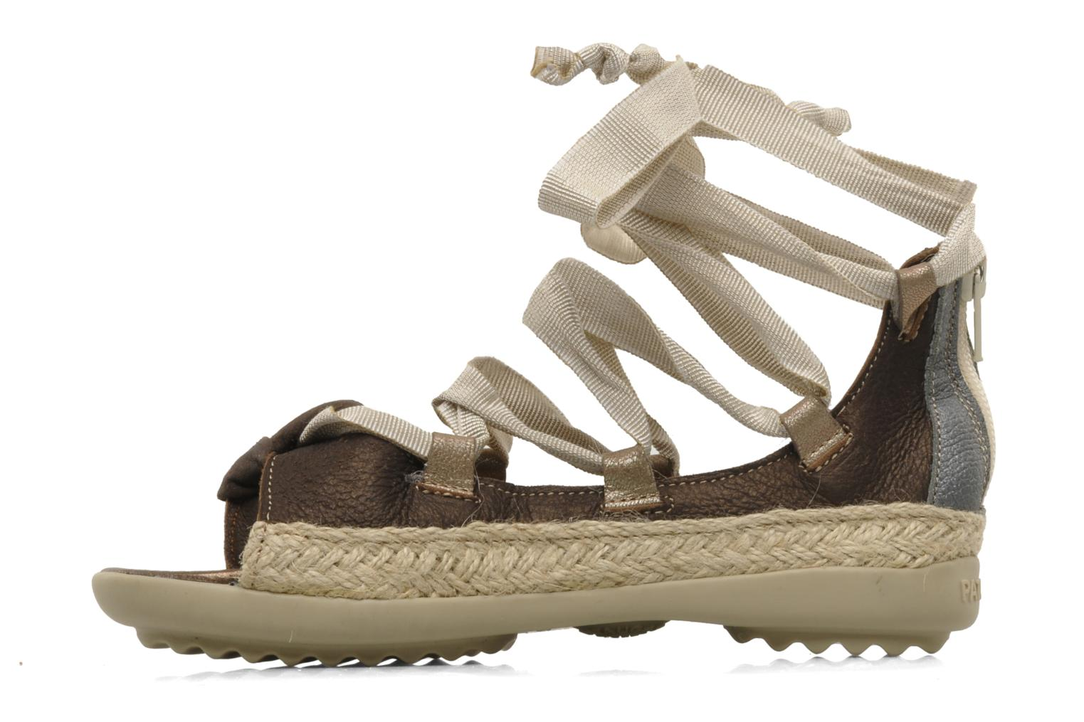 Sandals Pataugas Midnight e Brown front view