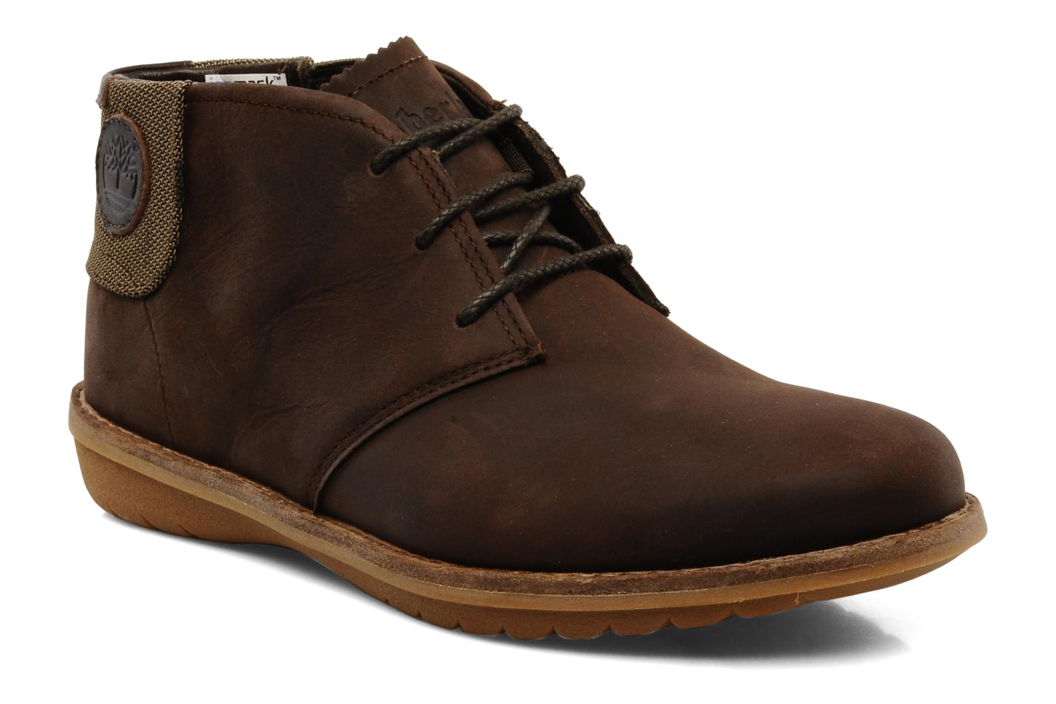 Chaussures à lacets Timberland Earthkeepers Front Country Travel Plain Toe Chukka Marron vue détail/paire