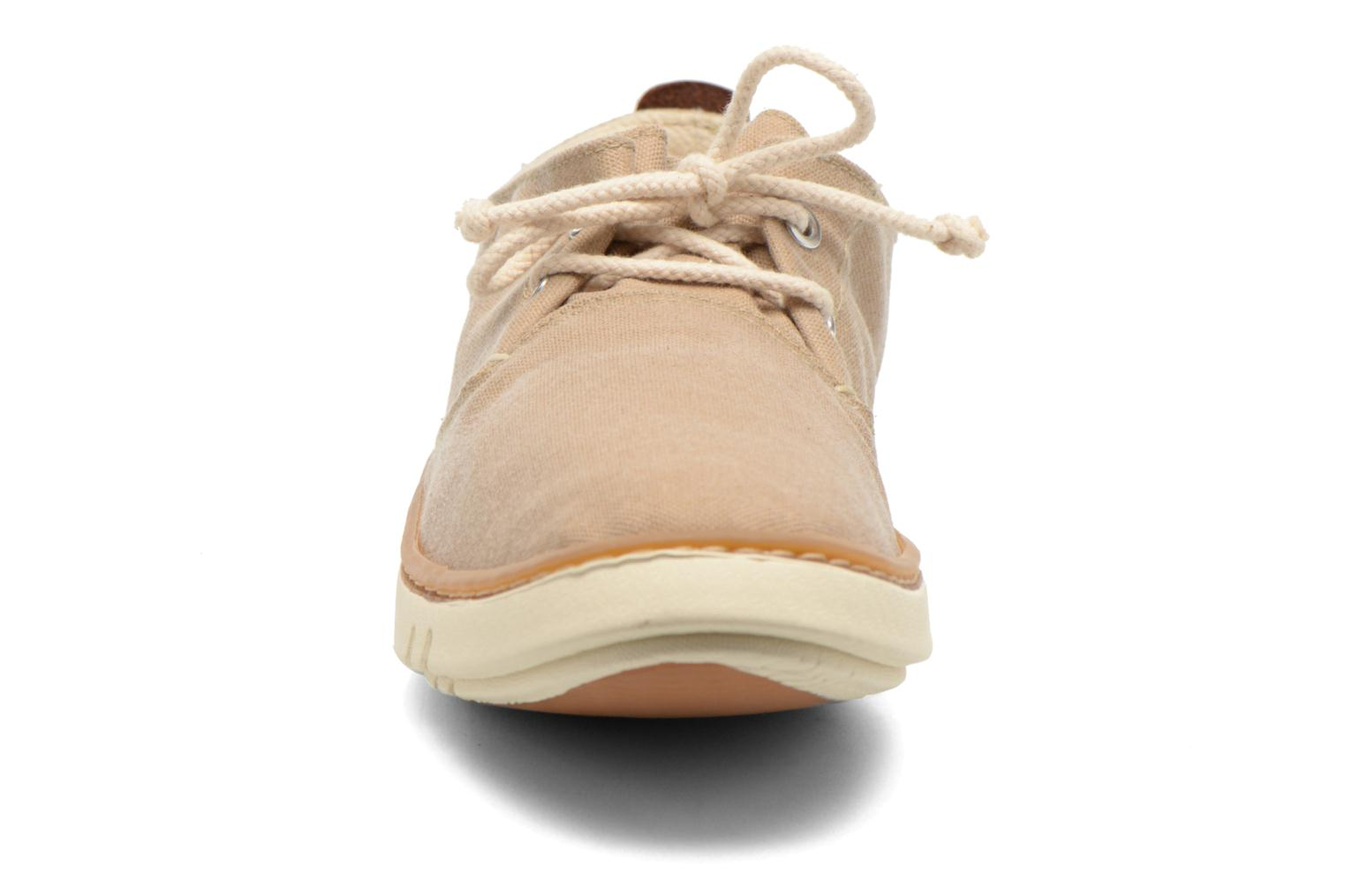 Baskets Timberland Earthkeepers Hookset Handcrafted Fabric Oxford Beige vue portées chaussures