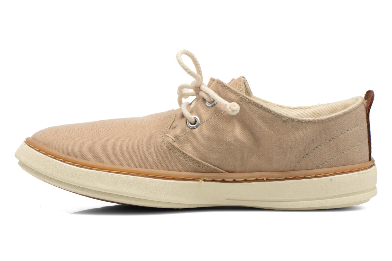 Baskets Timberland Earthkeepers Hookset Handcrafted Fabric Oxford Beige vue face